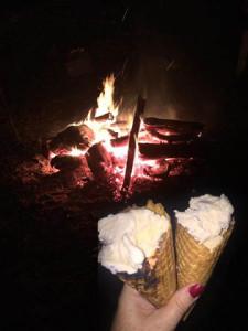Campfire & cones